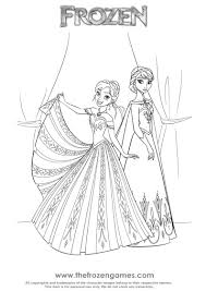 Coloring Anna And Elsa From Frozen Frozen Games