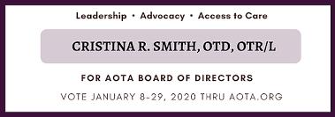 Home | Cristina R. Smith for AOTA Board of Directors
