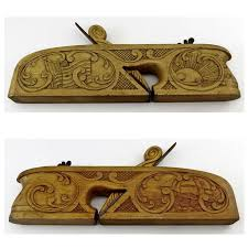 antique wood planer. ulmia georg ott vintage wood plane german woodworking tool carved decoration | old wood working tools pinterest plane, and antique planer d