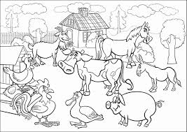 Farm Animals Coloring Pages Images Of To Colour Newcoloring123