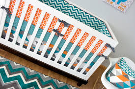 crib bedding boy turquoise orange nursery bedding baby crib