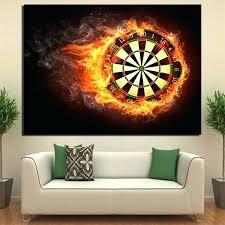 dart board wall 1 canvas art blooming dart board poster printed wall art home decor canvas dart board wall
