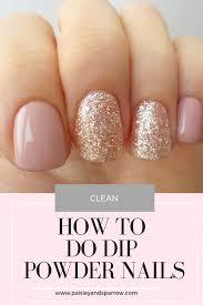 how to do dip powder nails paisley