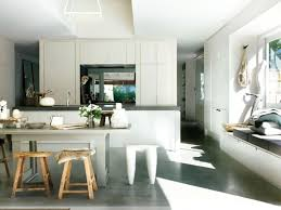 Concrete Floors In Kitchen Minimalist Kitchen With Concrete Floors Types Of Interior