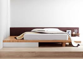 Modern bed Low Square Modern Bed With Storage Drawer Go Modern Square Modern Bed Contemporary Beds Contemporary Furniture
