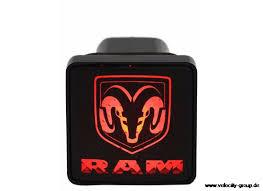 10-17 Ram 1500 Abdeckung für Anhängerkupplung - beleuchtet mit RAM Logo