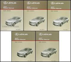 2007 lexus gs 450h wiring diagram manual original 2007 lexus gs 450h hybrid repair shop manual original 5 volume set 449 00