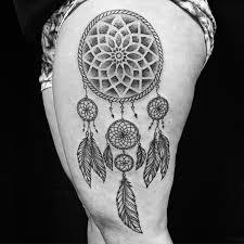 Dream Catcher Tattoo On Side 100 Stunningly Dreamcatcher Tattoo On Thigh 47