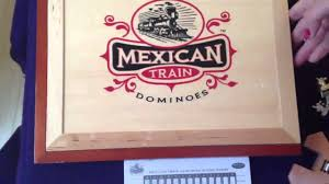 absolutely beautiful wooden set for mexican train fun beautiful design standard size dominoes you