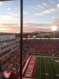 End Zone With Sunset Picture Of Martin Stadium Pullman