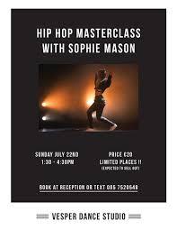 Vesper Dance Studio - Hip Hop Masterclass with Sophie Mason