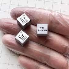 Er เออร์เบียม Cube แก้วจำนวนมากซีลบริสุทธิ์ 99.9% ตารางธาตุหายาก Earth  องค์ประกอบโลหะสำหรับ DIY การศึกษาวิจัยโรงเรียนการศึกษา Magnetic Materials