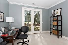 contemporary home office with hon fortask multi task swivel tilt chair french doors