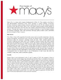 executive summery the appeal of macys executive summary