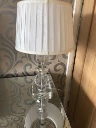 bhs glass table lamp