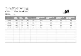 Workout Log Sheets Custom 48 Effective Workout Log Calendar Templates Template Lab