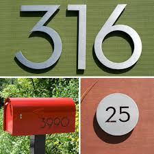 modern mailbox numbers. Perfect Numbers Modern House Numbers Giveaway And Mailbox E