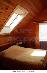 attic in house. bedroom interior in house attic with nice window roof stock image g