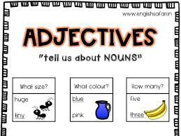 Adjectives Or Describing Words Anchor Chart By Pgoyal10