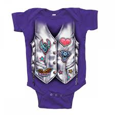 hot leathers girls leather vest baby suit