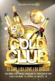 Gold Club Party Flyer Template Com Political Brochure ...