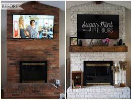 fireplace makeover cost brick wall how to cover a with wood