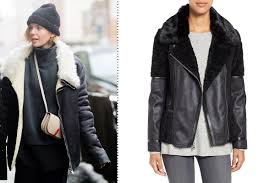 vince camuto mixed media faux shearling