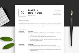 Minimal Resume Template Cv Template Resume Templates Creative Market