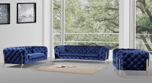 modern fabric sofa set. Dark Blue Fabric Sofa Set Modern A