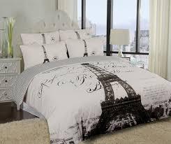elegant paris eiffel tower bedding twin full queen duvet cover or comforter combo set white