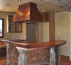 Copper Top Kitchen Table Custom Copper Counter Tops With Custom Copper Range Hood Www