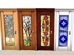 interior doors stained glass stain door wood with design home decor french