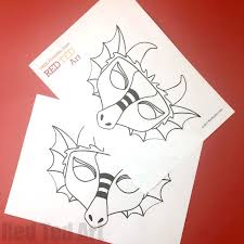 These coloring pages can be downloaded here and can entertain your kids for hours. Dragon Mask Coloring Page Red Ted Art Make Crafting With Kids Easy Fun