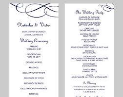wedding program template free word free wedding programs templates under fontanacountryinn com