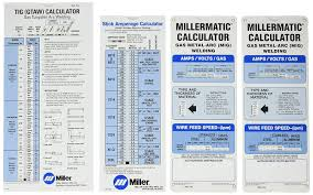 Stick Welding Amperage Chart Miller Electric 043125 Package Calculator