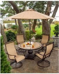 outdoor dining sets with umbrella. Hanover Monaco Aluminum 5-piece Outdoor Dining Set With 9-foot Table Umbrella ( Sets