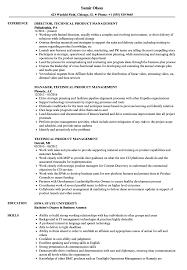 Technical Product Management Resume Samples Velvet Jobs