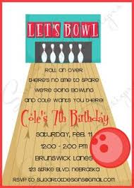 Bowling Party Invitations 52 Best Bowling Party Invitations Images Invitations Birthday