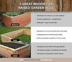 lumber for building raised garden beds