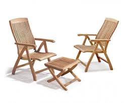 bali garden recliner chairs set with