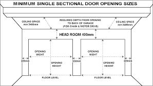 standard garage door sizes single double roller doors sectional