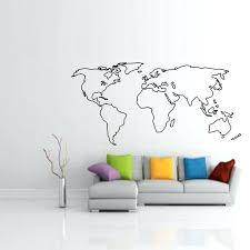 large world map for wall hot wall stickers large world map wall sticker home decor living