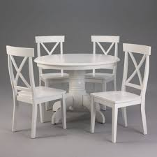 Creative Ikea White Dining Table With Furniture Nice Looking White Wood  Round Kitchen Tables Chairs Design