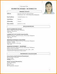 Resume In Pdf Format New Curriculum Vitae Format Pdf File The