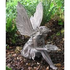 fairy garden statues. Large Sitting Fairy Resin Garden Statue | Internet Gardener Statues E