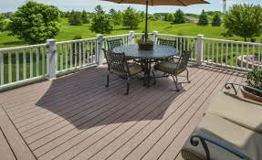 view larger image finished kingwood wood deck contractor project with furniture on wood deck overlooking golf course