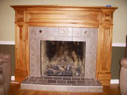 image of appealing wood fireplace mantels