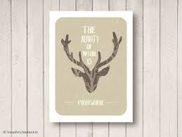 Beautiful Deer Quotes Best of Nature Quote With Beautiful Deer Head Poster Print Wall Art Decor