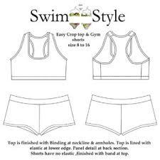 Crop Top Pattern Best GymwearEasy Crop Top Gym Shorts Pattern Swim Style