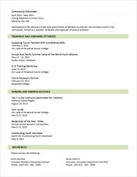 Resume Templates Cv Format Sample Example Pdf Curriculum Vitae